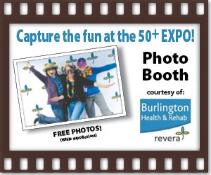 50+ EXPO photo booth Web button Sue